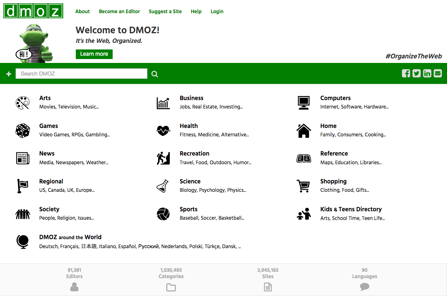 DMOZ - The Grand Directory's screenshot